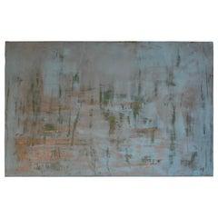 "Carol Post, ""Turchese"", Venetian Plaster and Acrylic on Board, 2017"