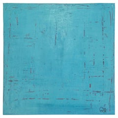 "Carol Post ""Turquoise Magenta Revealed"" Venetian Plaster and Acrylic"