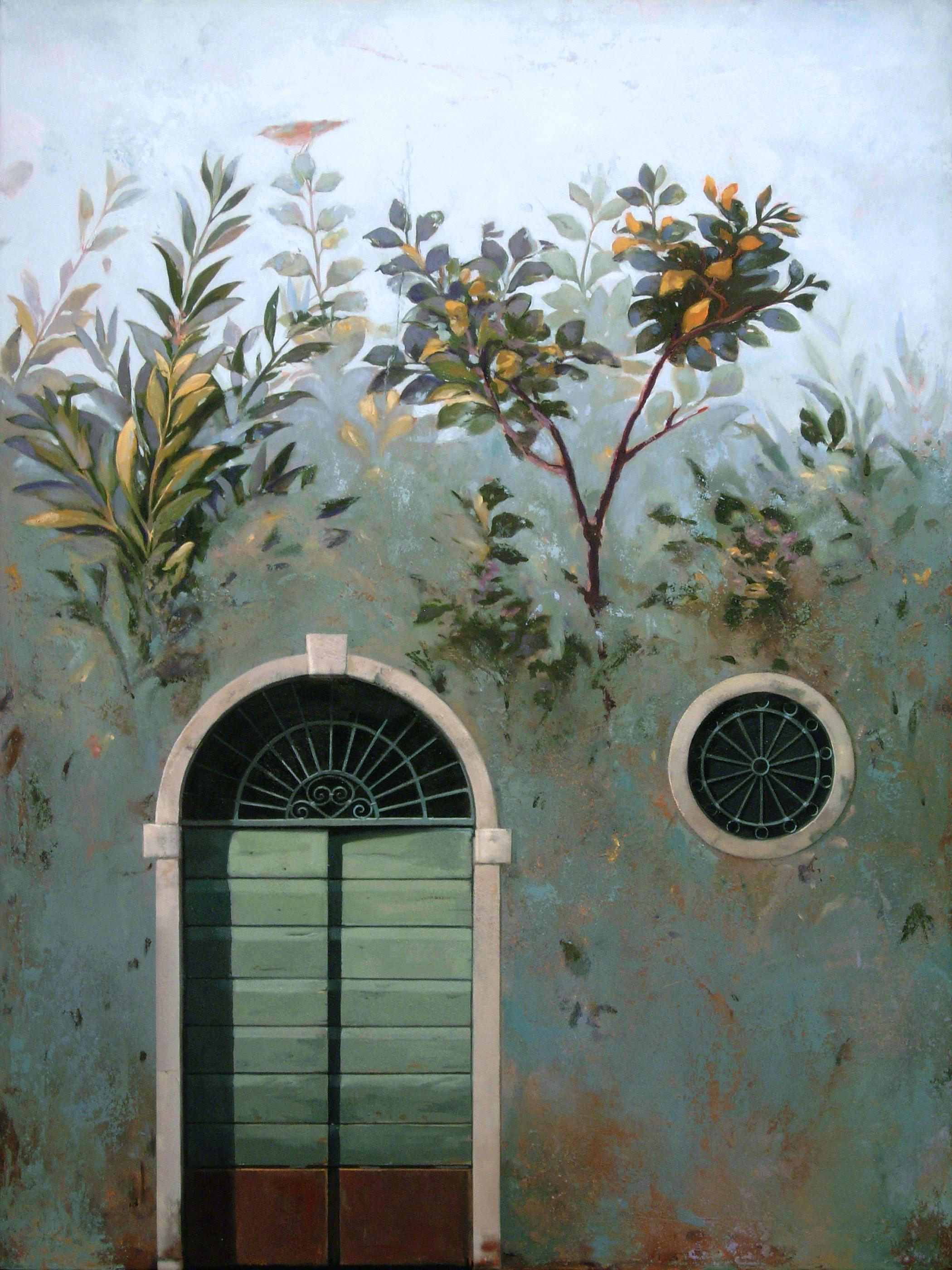 Ingresso - Architectural Trompe L'oeil Inspired by Ancient Roman Garden Frescos