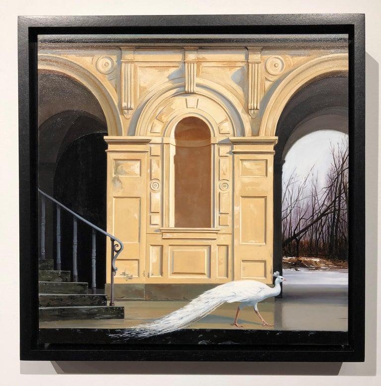 Medici Winter - Classic Architecture Facade with White Peacock and Winter Scene 7