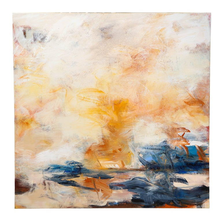 """Contemporary painting, """"Sunshine on the Water', by Carol Roche"""