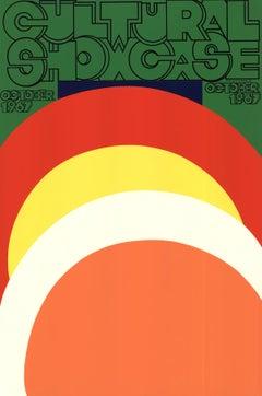 "Carol Summers-Cultural Showcase-45"" x 30""-Serigraph-1967-Pop Art-Green, Red"