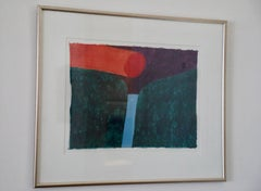 Carol Summers Woodblock Print on Japanese Paper, Corinth Canal
