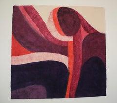 Carol Summers Woodblock Print on Japanese Paper, La Terra Trema