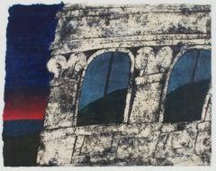 """Casa Marquez"" original woodcut print signed by Carol Summers"