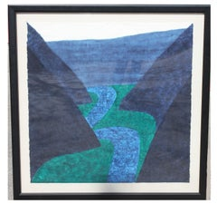 """Kali Gandaki""- Blue Toned Canyon Landscape Edition 38/100"