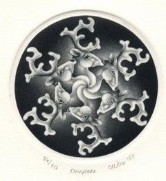 Deerflake (The artist's first work celebrating the Solstice / deer as snowflake)