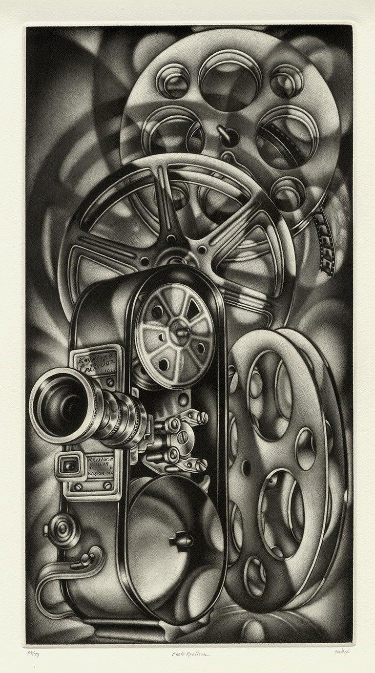 Photo Reelism - Black Still-Life Print by Carol Wax