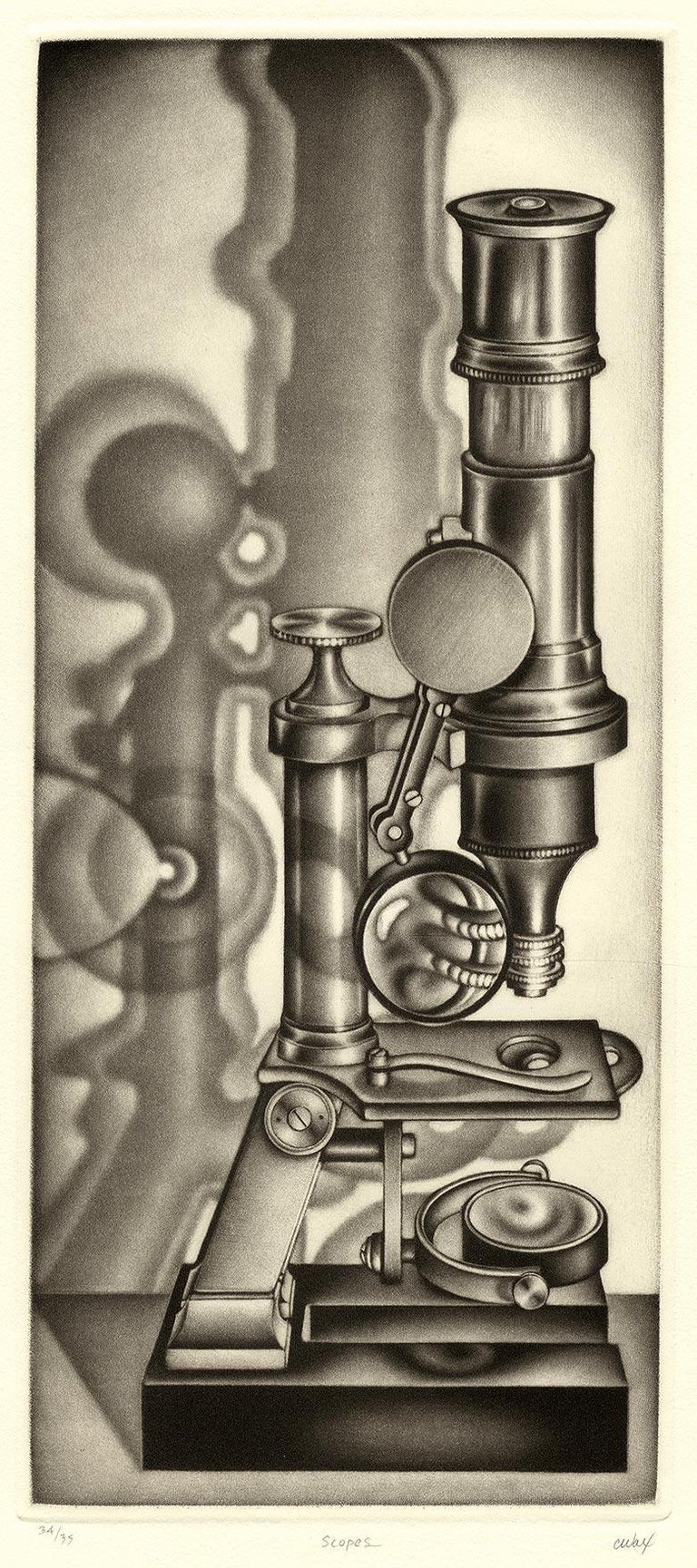 Scopes - Black Print by Carol Wax