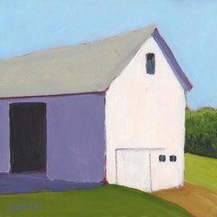 'Barn Knoll', Small Acrylic Painting