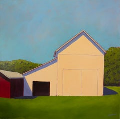 """Green Surround,"" Contemporary Barn Painting"