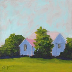 'Hidden Shed', Small Contemporary Transitional Acrylic Painting