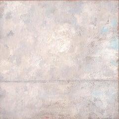 'Morning Mist', Small Minimalist Modern Landscape Acrylic Painting