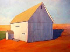 """Pumpkin Hill,"" Contemporary Barn Painting"