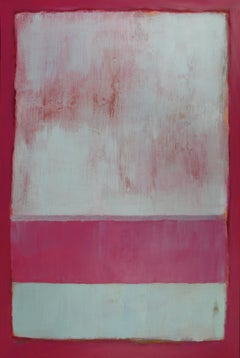 'Raspberry Mint', Minimalist Contemporary Modern Landscape Acrylic Painting