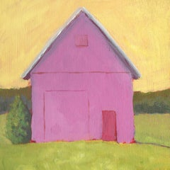 'Tickled Pink', Small Acrylic Painting