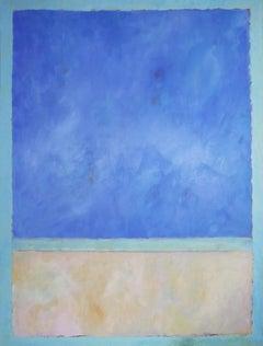 'Winter Green Sea', Minimalist Contemporary Modern Landscape Acrylic Painting