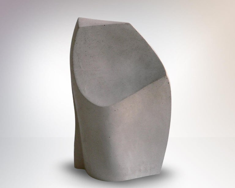 Abstract sculpture with beautiful curved lines.  'Steinguss' sculpture, composite material mostly made of cement Signed and numbered sculpture Limited edition 1/3 Measures: 34 x 21 x 13 cm.