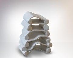Plaster Sculpture 'Scheiterhaufen' by Carola Eggeling