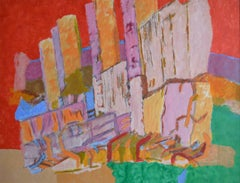 City Skyline. Contemporary Abstract Expressionist Painting