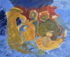 Family. Contemporary Impressionistic Abstract Painting
