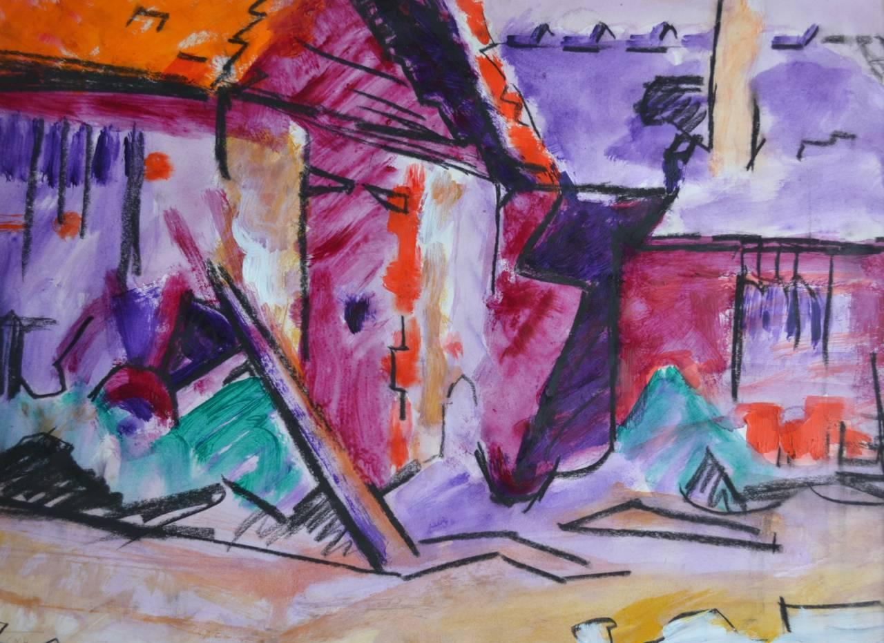 The Barn. Contemporary Painting