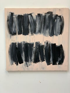 After Melancholia III abstract black beige painting