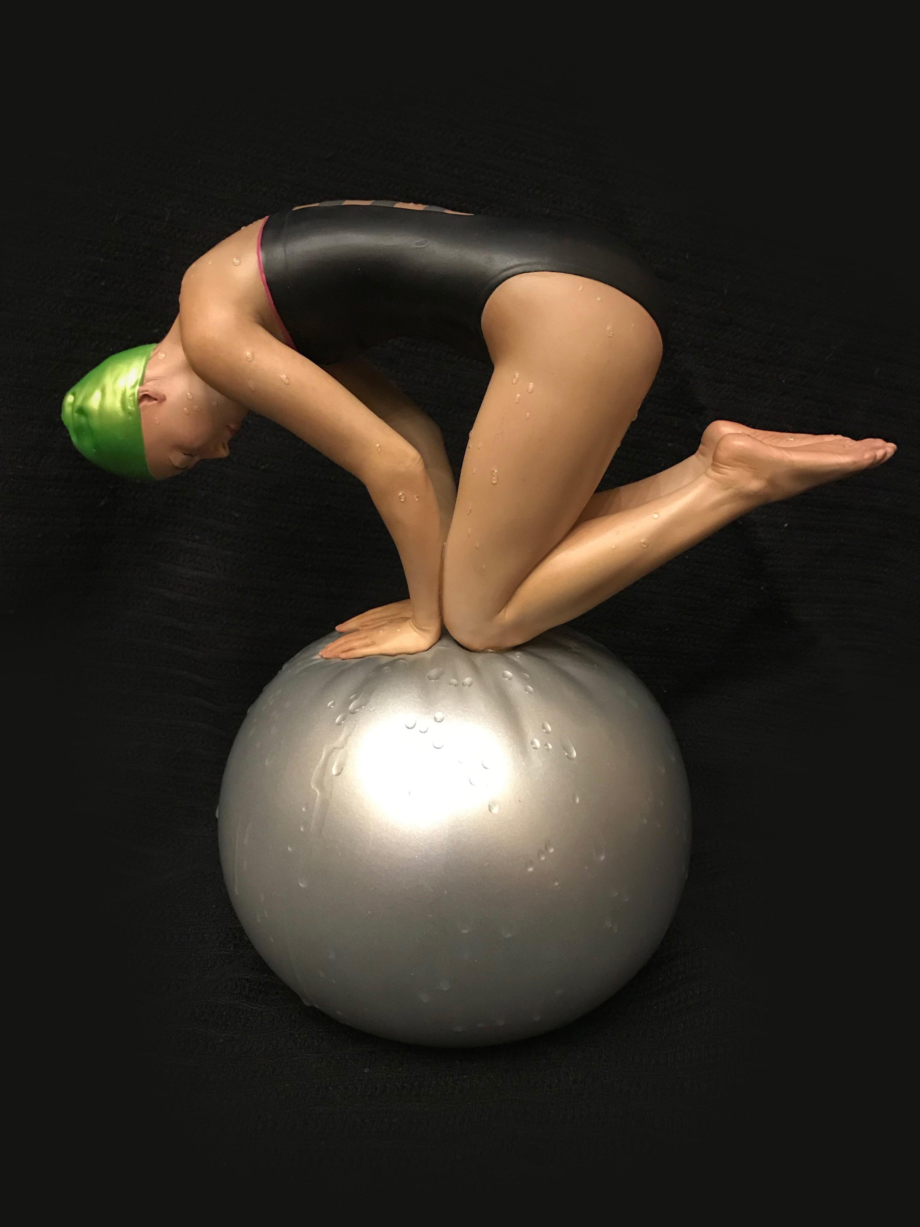 Miniature Quan, Swimmer Sculpture by Carole Feuerman