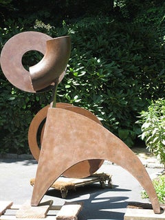 """""""Circus"""", Abstract, Large-Scale Outdoor Metal Sculpture in steel"""