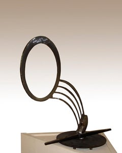 Deco, four foot welded steel sculpture, 2004