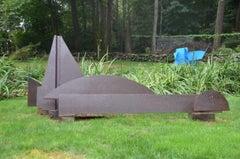 """Kearsarge"", Abstract, Large-Scale Outdoor Metal Sculpture in steel"