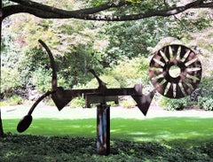 """Primal"", Abstract, Large-Scale Outdoor Metal Sculpture in steel"
