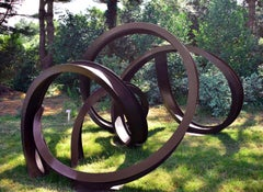 """""""Zerques"""", Abstract, Organic, Industrial Large-Scale Outdoor Sculpture in steel"""