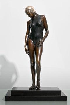 Dawn - Patinated Bronze w/ Stone Base