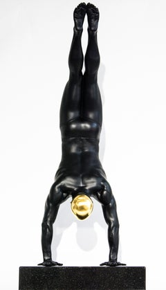 The Diver 1/18 - cast resin, hyperrealism, male, swimmer, figurative sculpture