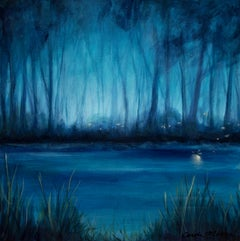 Blue Marsh I Carole Moore, Acrylic painting on stretched canvas