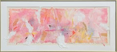 """""""Aerial Vision"""" Modern Abstract Pink and Orange Toned Mixed Media Painting"""