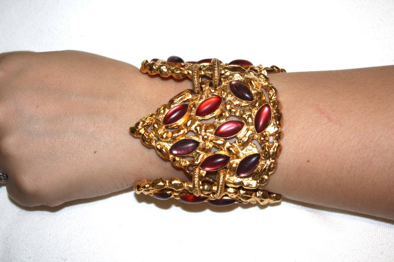 Carole St. Germes Triple Heart Couture Bracelet In New Condition For Sale In Virginia Beach, VA