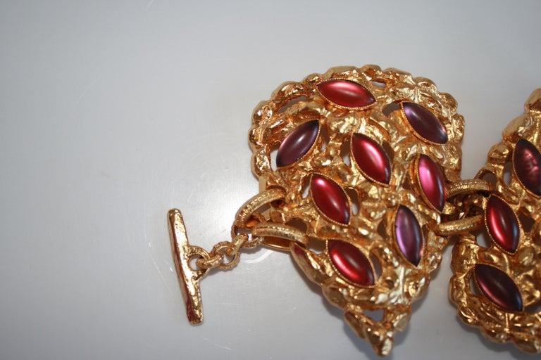Women's Carole St. Germes Triple Heart Couture Bracelet For Sale