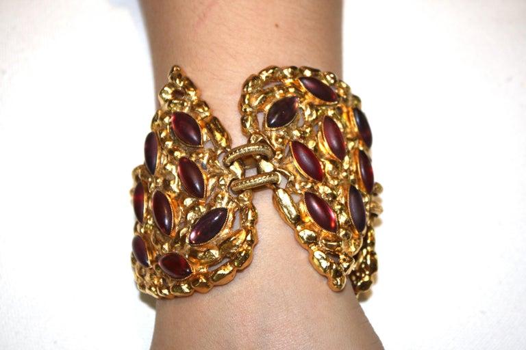 Carole St. Germes Triple Heart Couture Bracelet For Sale 1
