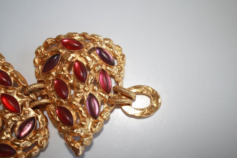Carole St. Germes Triple Heart Couture Bracelet For Sale 2