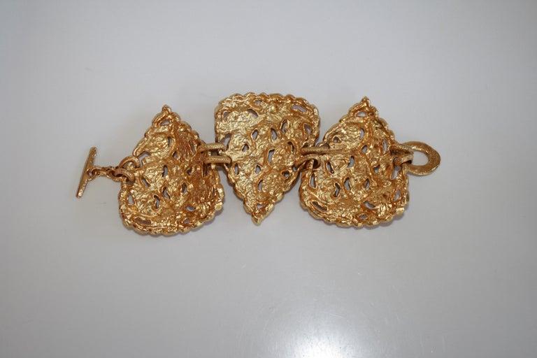 Carole St. Germes Triple Heart Couture Bracelet For Sale 3