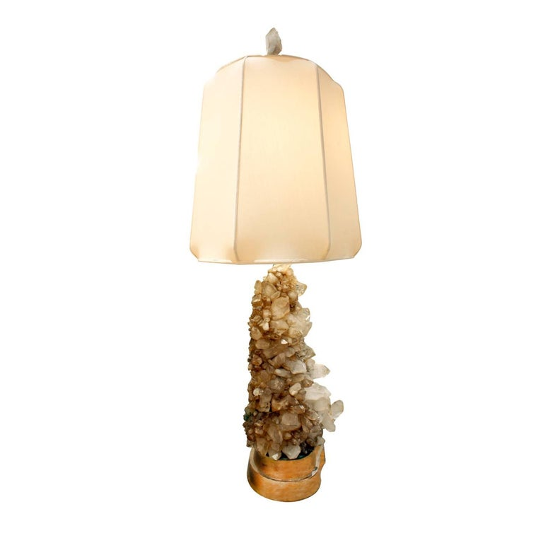 American Carole Stupell Extraordinary Quartz Crystal Table Lamp, 1950s For Sale