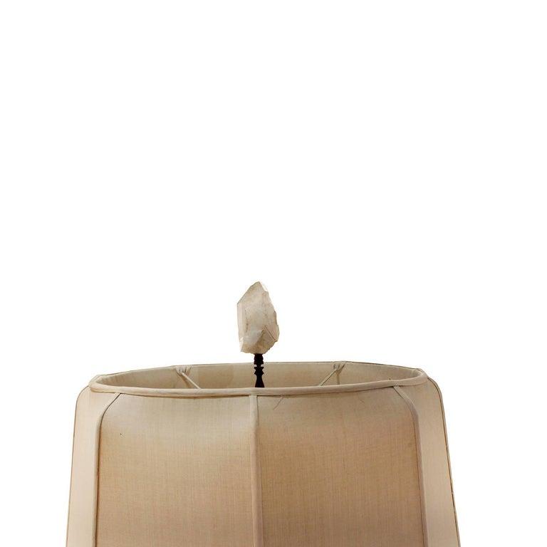 Mid-20th Century Carole Stupell Extraordinary Quartz Crystal Table Lamp, 1950s For Sale