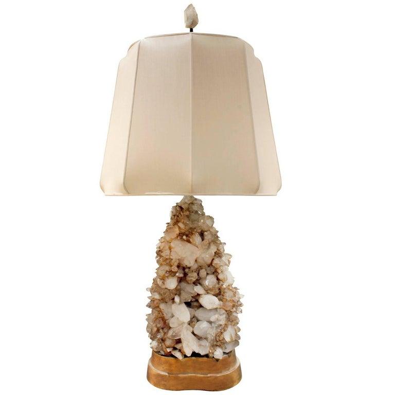 Carole Stupell Extraordinary Quartz Crystal Table Lamp, 1950s For Sale