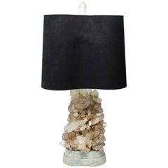 Carole Stupell Hollywood Regency Quartz Crystal Cluster Table Lamp