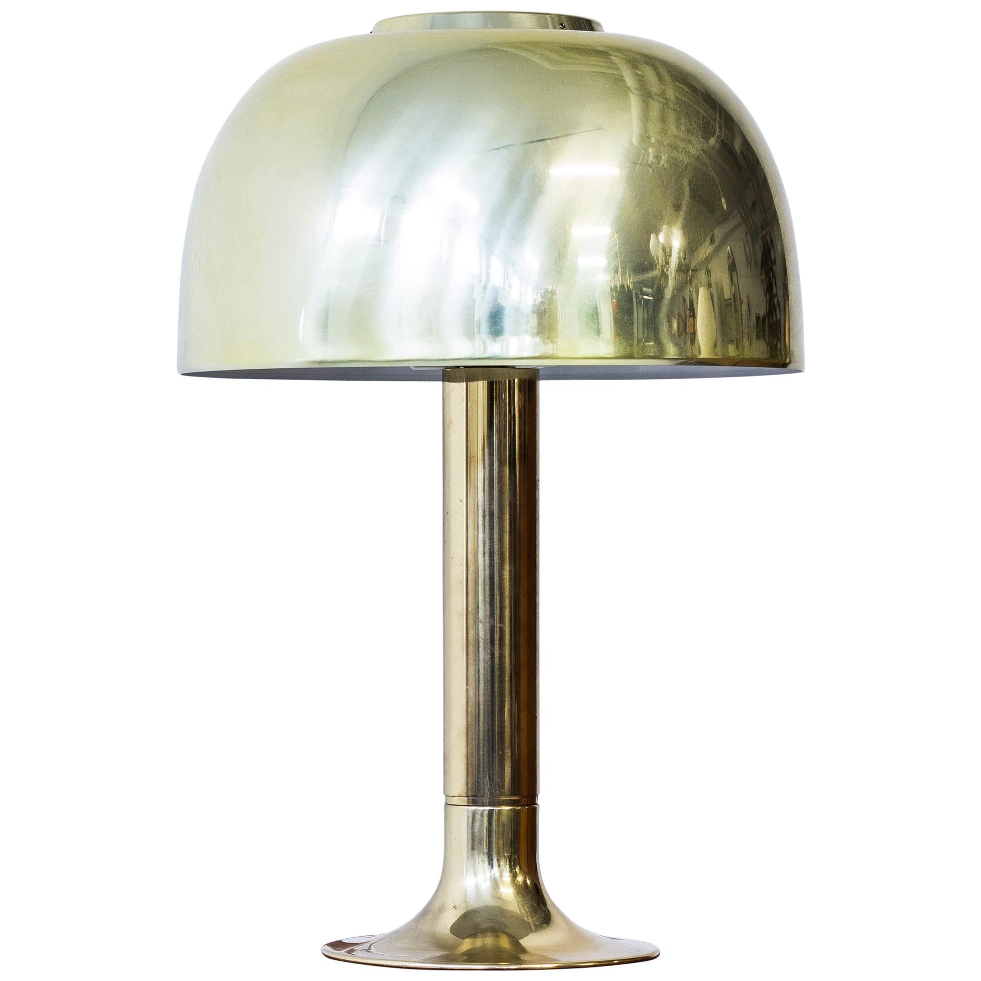 """Carolin"" Brass Table Lamp by Hans Agne Jakobsson, Sweden, 1970s"