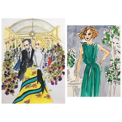 Carolina and Nicolas an the Frick, and Green Dress, Set