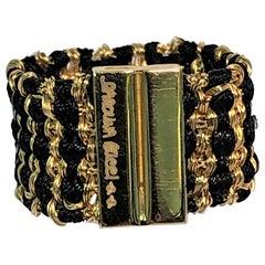 Carolina Bucci 18 Karat Yellow Black Silk Ring