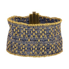 Carolina Bucci Yellow Gold and Silk Mesh Bracelet